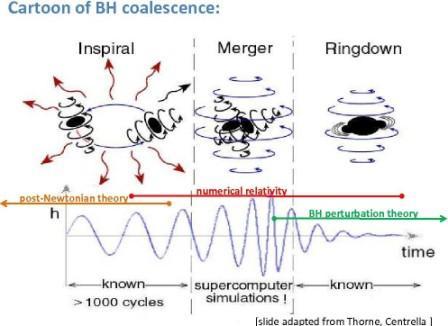 Estudiando la vibración remanente (ringdown) después de la fusión de dos agujeros negros, podríamos entender si hay algo adentro de ellos